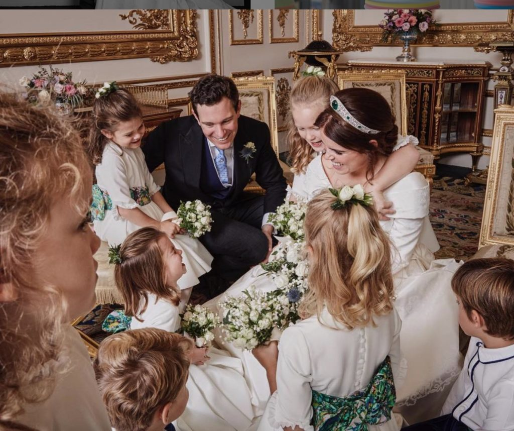 Eugenie deelt intieme trouwfoto's