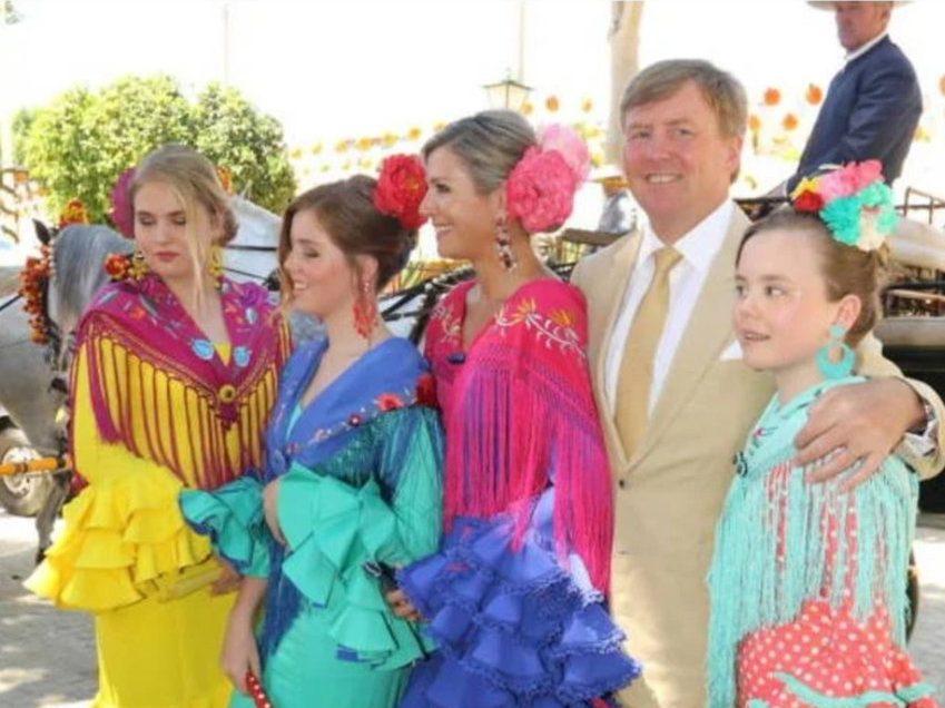 Koningspaar neemt dochters mee naar Sevilla, daar waar het 20 jaar geleden begon