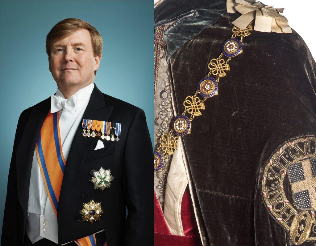 Beatrix koos historisch Kousenbandgewaad, Willem-Alexander levert kostuum vanavond weer in bij Elizabeth