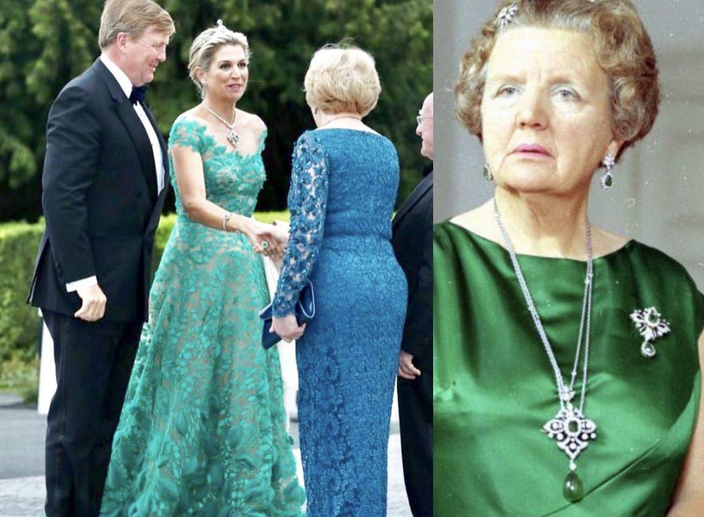 Máxima flonkert in Ierland met Juliana's favoriete smaragden