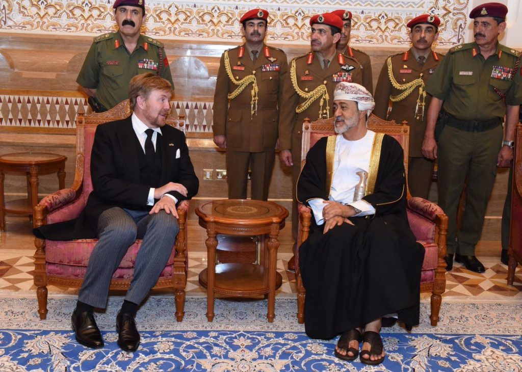 Koning Willem-Alexander ontmoet nieuwe Sultan van Oman